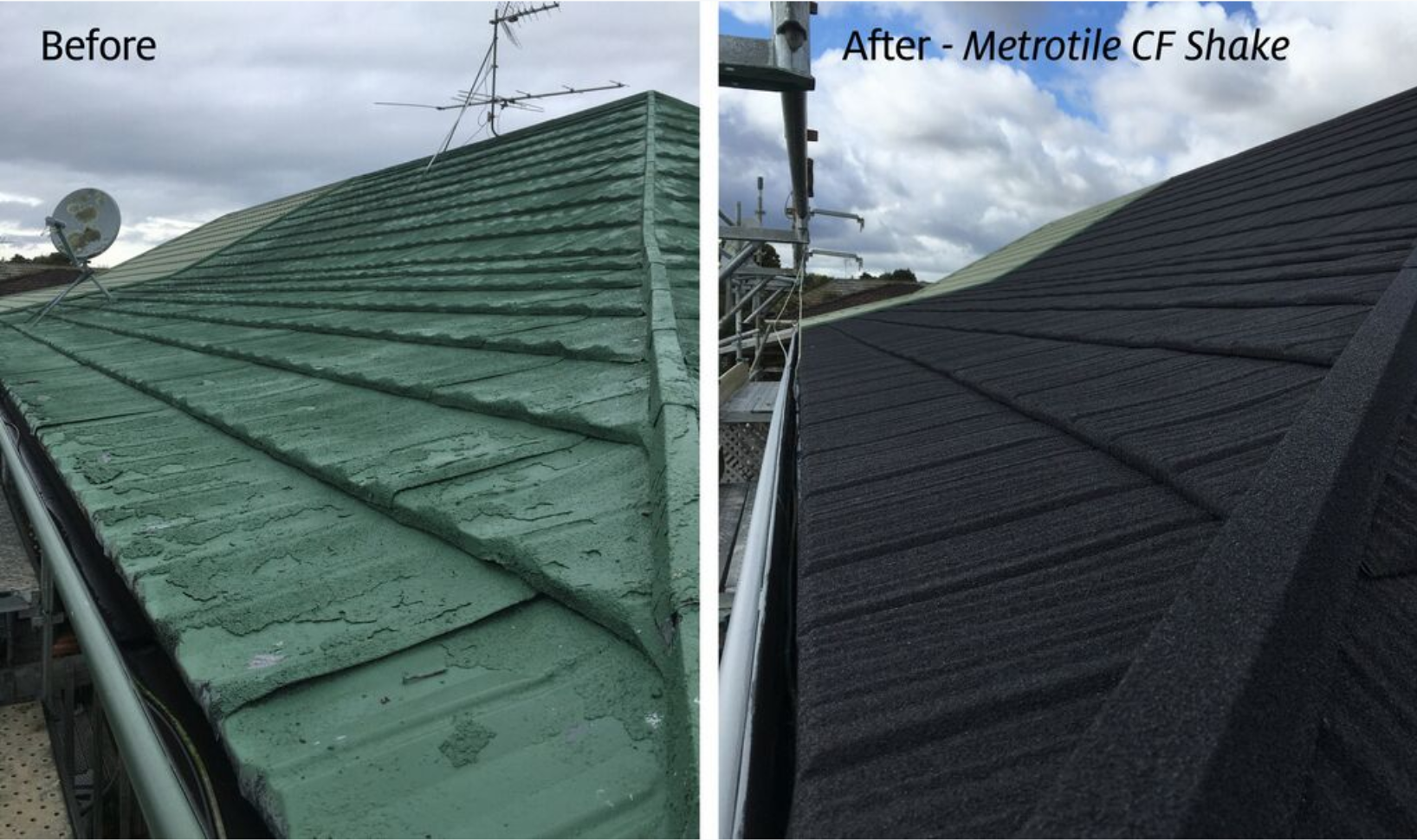 INSTAL OVER AN OLD ROOF WITH CONCEALED FASTENING